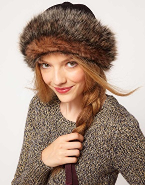 cossack hat faux fur asos