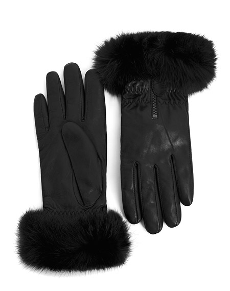 danier fur trim gloves